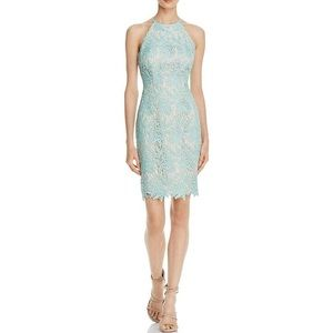 Keepsake Mint High Neck Lace Dress